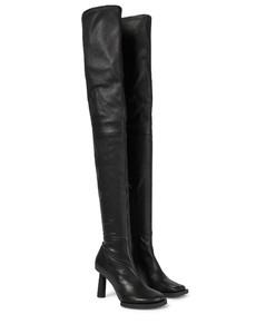Les Bottes CarréRonds皮革靴子