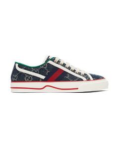 蓝色Gucci Tennis 1977运动鞋