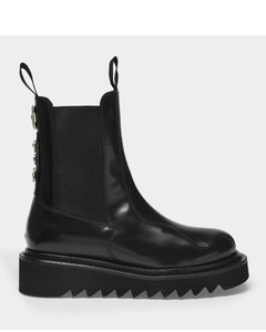 Ankle Boots in Black Hard Leather