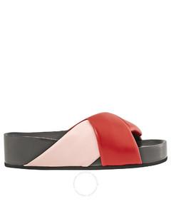 Twist Sandal in Red