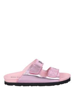 PVC Stud Sandals in Black