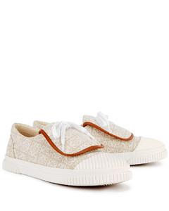 Anagram cream canvas-jacquard sneakers