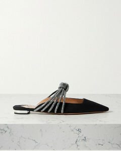 Celeste Crystal-embellished Knotted Faille Mules - IT34