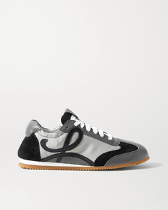 Ballet Runner Shell, Suede And Leather Sneakers