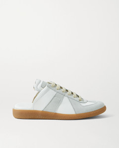 Replica Leather And Suede Slip-on Sneakers