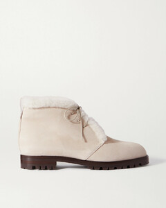 Mircus Shearling-lined Suede Ankle Boots - IT35