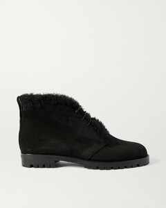 Mircus Shearling-lined Suede Ankle Boots - IT36