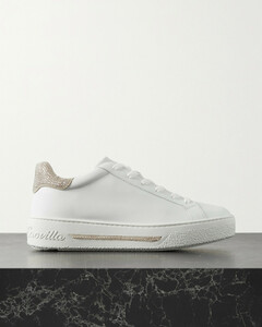 Crystal-embellished Leather Sneakers - IT35