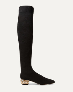 Grace Embellished Cashmere Over-the-knee Boots - IT35