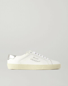Court Classic Metallic Logo-embroidered Leather Sneakers - IT35
