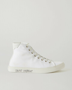 Malibu Leather-trimmed Distressed Cotton-canvas High-top Sneakers - IT35