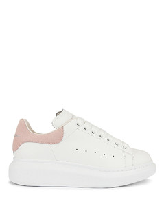 Leather Platform Sneakers in White