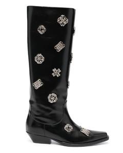 embellished knee boots