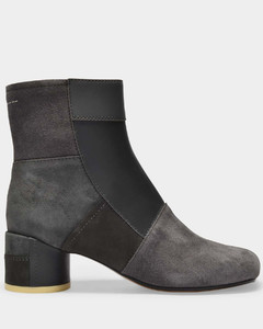 Ankle Boots in Multi Dark Grey Leather