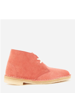 Women's Suede Desert Boots - Dark Blush