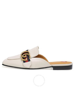Ladies GG Leather Slippers