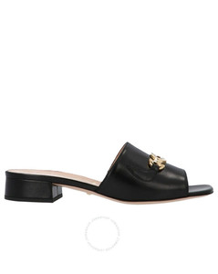 Ladies Zumi Leather Slide Sandals