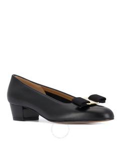 Ladies Vara Bow Pump Shoe in Black