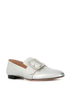 White Janelle Metallic Loafers