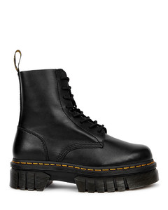 Audrick black leather flatform ankle boots