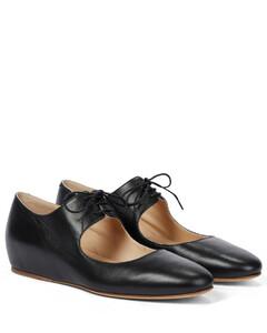 Sebastian绑带式皮革平底鞋
