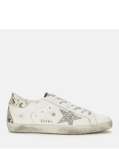 Women's Superstar Leather Trainers - White/Silver/Rock Snake