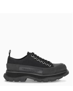 Black Tread Slick low-top lace-up shoes