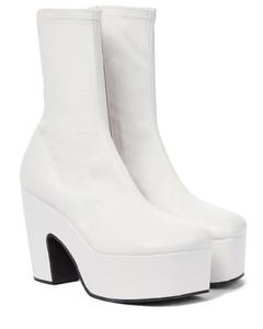 皮革防水台及踝靴