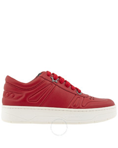 Ladies Hawaii/F Red Calf Leather Trainers