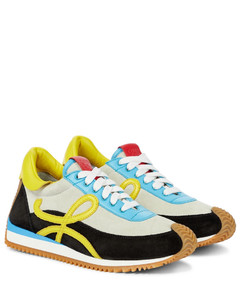 Flow Runner绒面革运动鞋