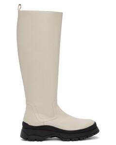 灰白色Bow高筒靴