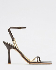 Stretch sandals brown