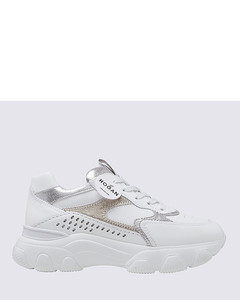 Deck Sneakers in Black Canvas and White Sole