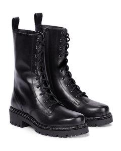 Bika缀饰皮革战地靴