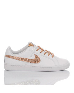WOMEN'S MIM1821 WHITE LEATHER SNEAKERS