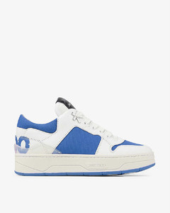 x Eric Haze logo-print leather and canvas low-top trainers