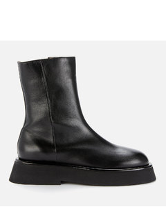 Women's Rosa Leather Mid Calf Boots - Black