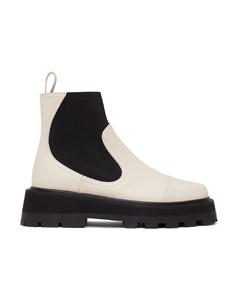 白色Clayton踝靴