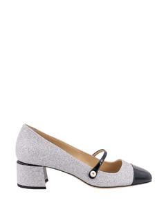 珠饰皮革踝靴