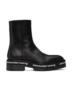黑色Stanford踝靴