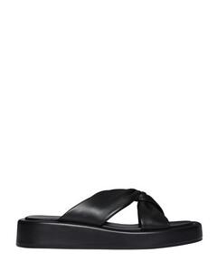 Crystal-embellished Leather Knee Boots