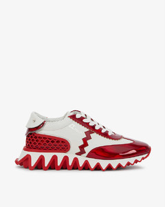 Leather sneakers with glitters