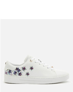 Women's Keilie Leather Cupsole Trainers - White