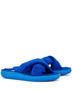 Thais Comfort blue terry cotton sliders