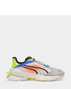 OP1 Pwrframe Abstract Sneakers in Yellow Canvas