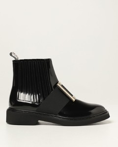 Viv 'Rangers ankle boots in patent leather with buckle
