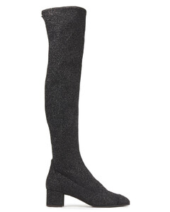 Woman Natalie Glittered Stretch-knit Over-the-knee Boots