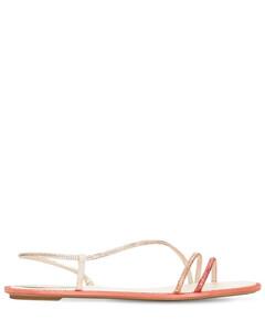 10mm Embellished Satin Sandals