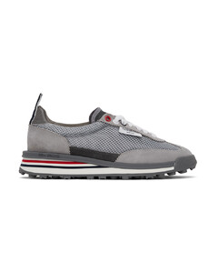 Grey Tessuto Mesh Unlined Tech Runner Sneakers
