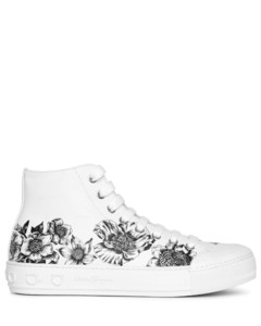 Nirvana floral leather sneakers